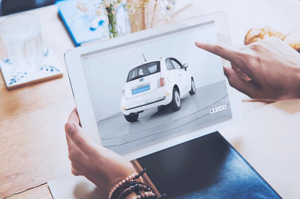 Découvrez les voitures à 360°, intérieur comme extérieur