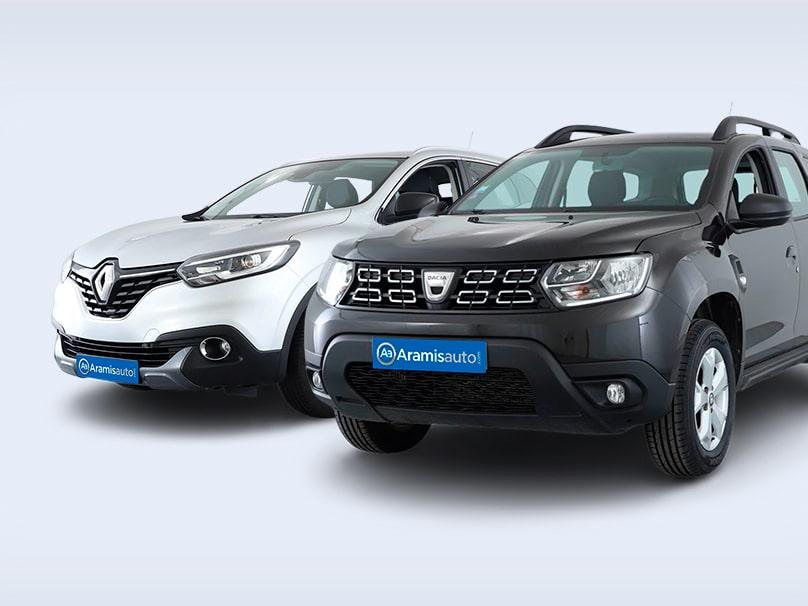 Un 4x4 et un 4x2 mis l'un à côté de l'autre pour illustrer les différences entre ces deux types de véhicule.
